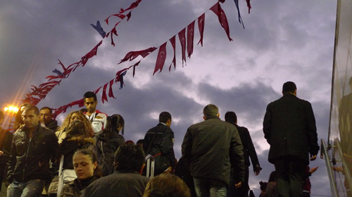 Istanbul crowd