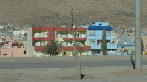 Colorful houses in Kurdistan, Iraq.