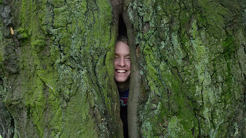 Pontus in a tree!