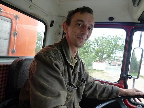 Happy, serbian driver